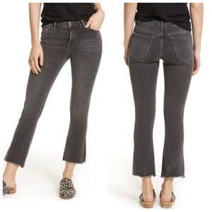 Free People - Medium Wash Raw Capri/Cropped Jeans